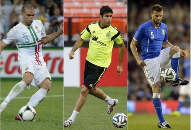 ПЕПЕ, Диегу КОСТА и Тиагу МОТТА могли играть на ЧМ-2014 за Бразилию, но на родине будут представлять другие сборные. Фото AFP/REUTERS