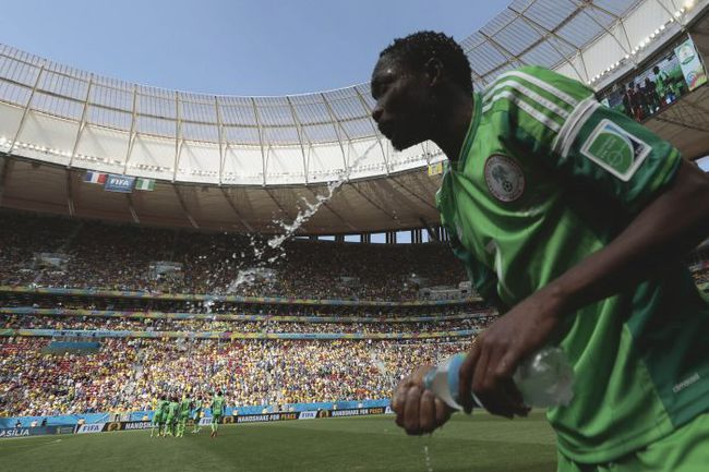 Нападающий сборной Нигерии Ахмед МУСА. Фото AFP