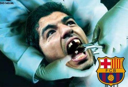 """""""Барселона"""" планирует отучить Луиса СУАРЕСА от привычки кусаться."""