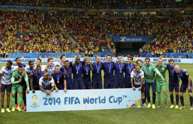 Вчера. Бразилиа. Бразилия - Голландия - 0:3. Голландцы - бронзовые призеры чемпионата мира-2014 в Бразилии. . Фото REUTERS