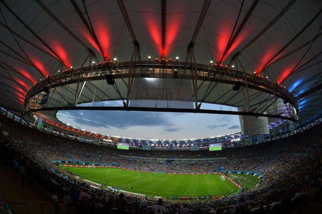"""Воскресенье. Рио-де-Жанейро. """"Маракана"""" во время финала ЧМ-2014 между Германией и Аргентиной. Фото AFP"""