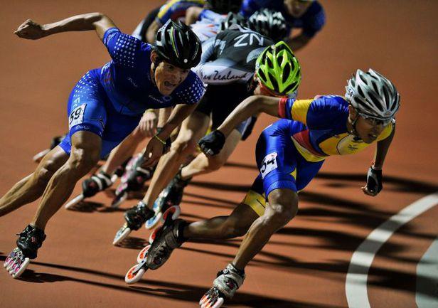 Август 2013 года. Кали (Колумбия). Cоревнования по роллер-спорту на Всемирных играх. Фото AFP
