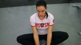 27 сентября 2013 года. Новогорск. Мария КОМИССАРОВА готовится к домашней Олимпиаде.