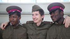 Март 2011 года. Армейцы Секу ОЛИСЕ, Евгений АЛДОНИН и Сейду ДУМБЬЯ (слева направо).