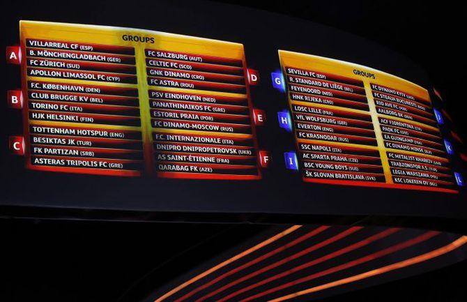 Сегодня. Монте-Карло. Результаты жеребьевки группового турнира Лиги Европы. Фото REUTERS