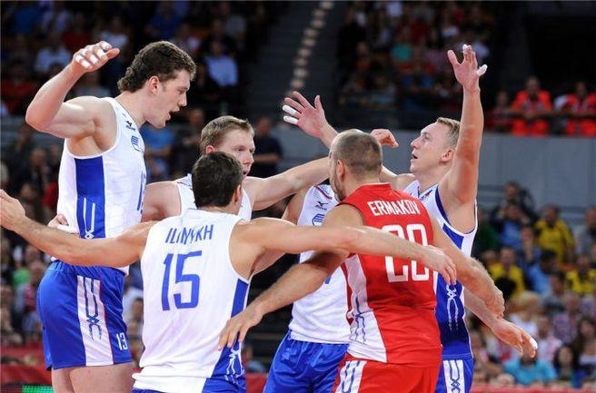 Вчера. Вроцлав. Россия - Куба - 3:1. Есть седьмая победа подряд! Фото fivb.org