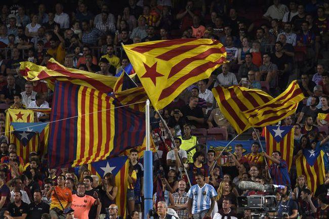 """Болельщики """"Барселоны"""". Фото AFP"""
