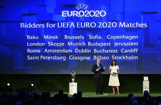 Сегодня. Женева. УЕФА объявляет города, которые примут чемпионат Европы через шесть лет. Фото AFP