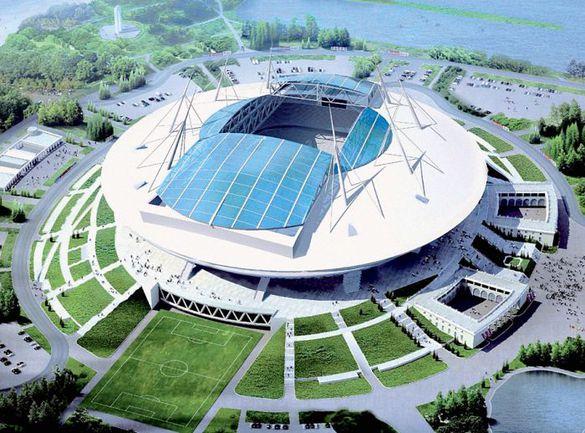 """Так будет выглядеть новый стадион """"Зенита"""", который примет матчи ЧМ-2018 и Euro-2020."""