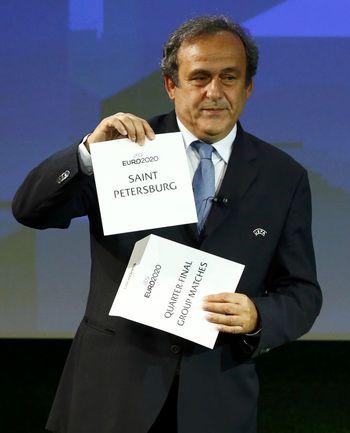 Вчера. Женева. Президент УЕФА Мишель ПЛАТИНИ. Фото REUTERS