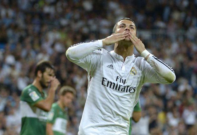 """Сегодня. Мадрид. """"Реал"""" - """"Эльче"""" - 5:1. Автор четырех голов Криштиану РОНАЛДУ. Фото AFP"""