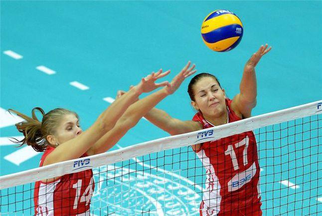 Сегодня. Верона. Казахстан - Россия - 0:3. Россиянки не оставили шансов соперницам. Фото FIVB