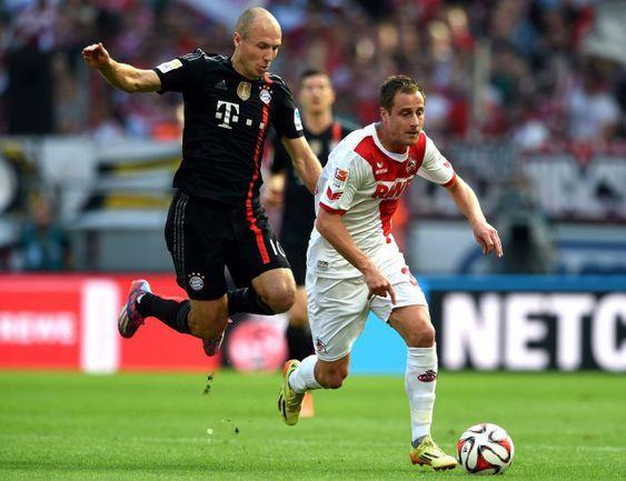 Суббота. Кельн. «Кельн» - «Бавария» - 0:2. Арьен РОББЕН и Матиас ЛЕМАНН. Фото AFP