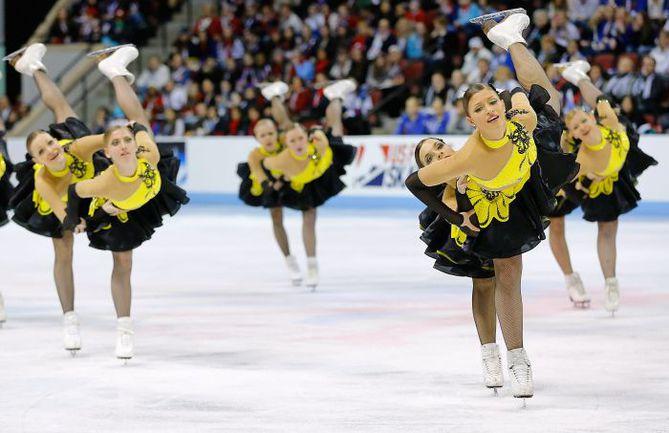 Сборная России на чемпионате мира по синхронному фигурному катанию. Фото AFP