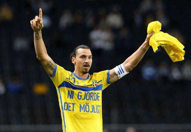 Лидер сборной Швеции Златан ИБРАГИМОВИЧ. Фото AFP
