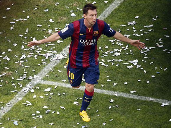 """Суббота. 35-я минута. Мадрид. """"Райо Вальекано"""" – """"Барселона"""" – 0:2. Лионель МЕССИ празднует гол. Фото REUTERS"""