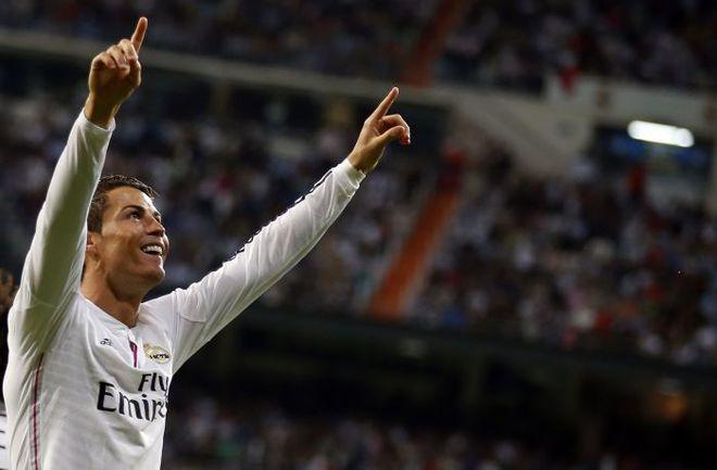 """Воскресенье. Мадрид. """"Реал"""" - """"Атлетик"""" - 5:0. КРИШТИАНУ РОНАЛДУ празднует хет-трик. Фото REUTERS"""
