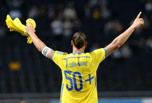 Капитан сборной Швеции Златан ИБРАГИМОВИЧ. Фото AFP