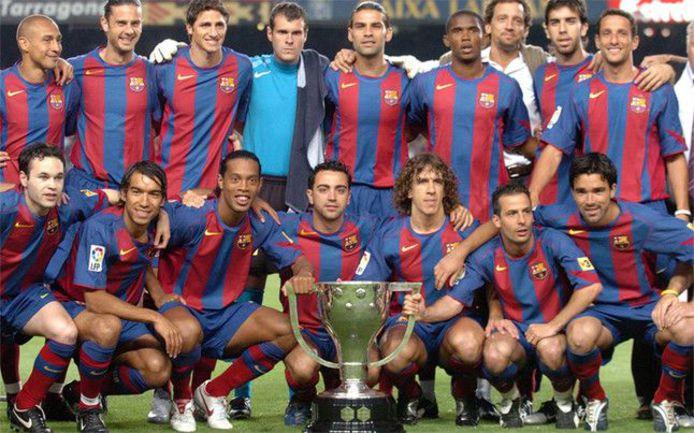 """""""Барселона"""" по итогам сезона-2004/05 стала чемпионом Испании. Фото AFP"""
