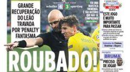 Передовица популярного португальского издания A Bola о матче