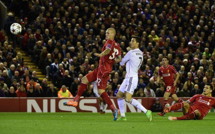 """Вчера. Ливерпуль. """"Ливерпуль"""" - """"Реал"""" - 0:3. 23-я минута. Гол КРИШТИАНУ РОНАЛДУ. Фото AFP"""