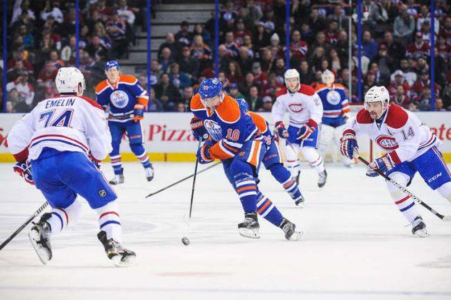 """Понедельник. Эдмонтон. """"Эдмонтон"""" – """"Монреаль"""" – 3:0. В атаке Наиль ЯКУПОВ (№10). Фото НХЛ"""