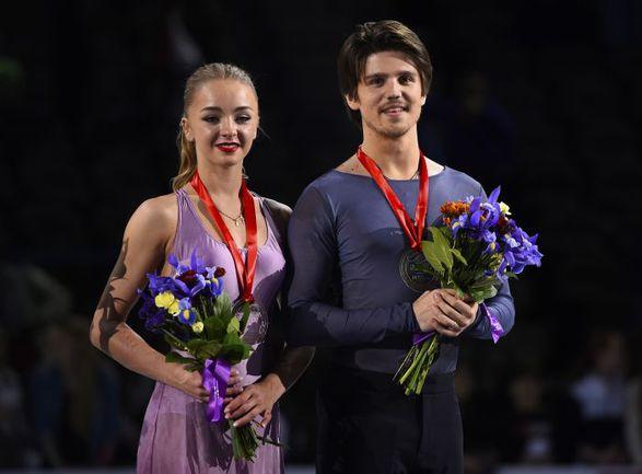 Александра СТЕПАНОВА и Иван БУКИН стали третьими на Skate America. Фото USA TODAY Sports