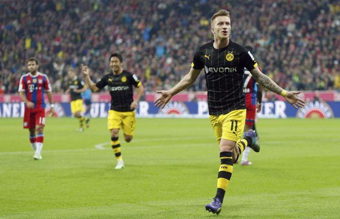 "Суббота. Мюнхен. ""Бавария"" – ""Боруссия"" Д – 2:1. 31-я минута.  Марко РОЙС празднует гол. Фото REUTERS"