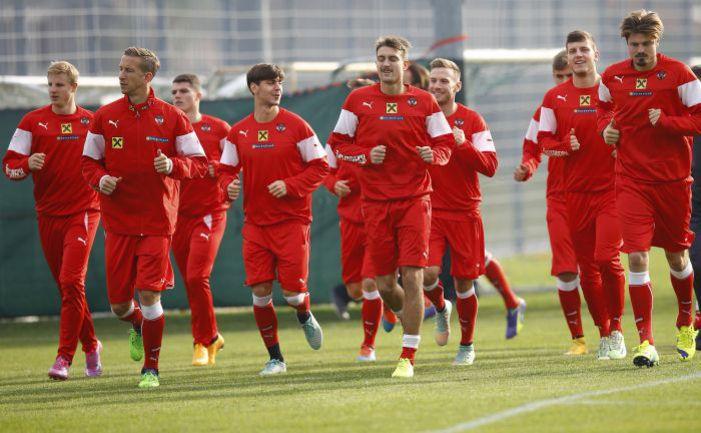 Среда. Вена. Тренировка сборной Австрии. Фото REUTERS