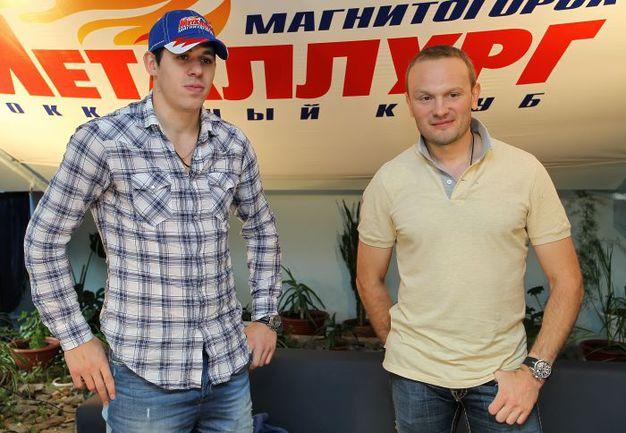 2012 год. Магнитогорск. Евгений МАЛКИН (слева) и Сергей ГОНЧАР. Фото photo.khl.ru