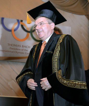 Баку. Томас БАХ во время сессии Европейского олимпийского комитета. Фото AFP