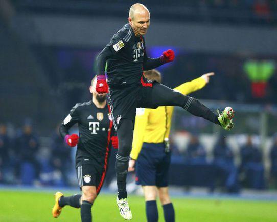 """Вчера. Берлин. """"Герта"""" – """"Бавария"""" – 0:1. 27-я минута. Гол Арьера РОББЕНА принес мюнхенцам победу. Фото REUTERS"""