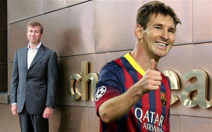 """Форвард """"Барселоны"""" Лионель МЕССИ (справа) может перебраться в """"Челси"""" Романа АБРАМОВИЧА. Фото AFP"""