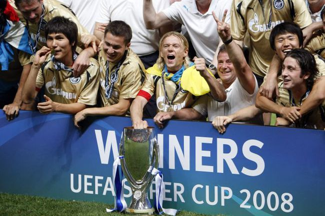 "29 августа 2008 года. ""Зенит"" - обладатель Суперкубка УЕФА. Фото REUTERS"