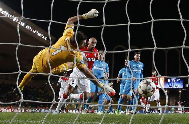 """Вчера. Монако. """"Монако"""" - """"Зенит"""" - 2:0. 63-я минута. Гол Аймена Абденнура. Фото AFP"""