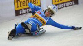 На трассе - 3-кратная чемпионка мира и 5-кратная чемпионка Европы по натурбану Екатерина ЛАВРЕНТЬЕВА.