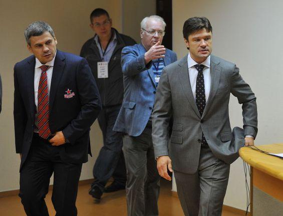 """Дмитрий КВАРТАЛЬНОВ (слева) и Олег ОРЕХОВСКИЙ (справа). Фото Александр ФЕДОРОВ, """"СЭ"""""""