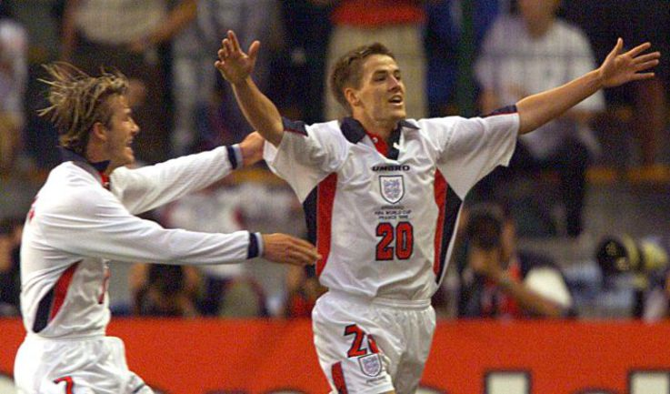 30 июня 1998 года. Сент-Этьен. Аргентина - Англия - 2:2 (пен. - 4:3). Радость Майкла ОУЭНА. Фото REUTERS