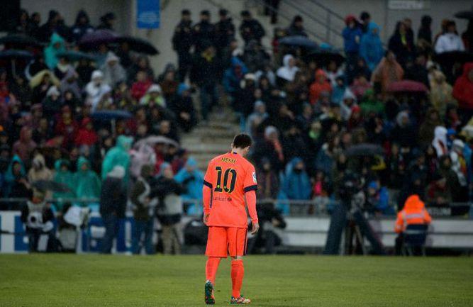 """Суббота. Хетафе. """"Хетафе"""" – """"Барселона"""" – 0:0. Эмоции Лионеля МЕССИ после игры. Фото REUTERS"""