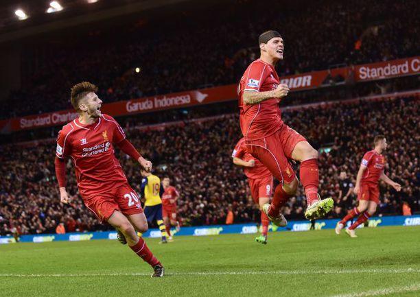 """Воскресенье. Ливерпуль. """"Ливерпуль"""" - """"Арсенал"""" - 2:2. 90+7-я минута. Радость Мартина ШКРТЕЛА после гола. Фото AFP"""