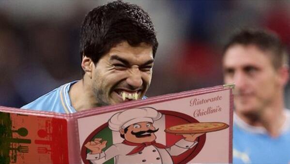 Главный герой мемов образца 2014 года - уругваец Луис СУАРЕС. Фото metro.co.uk