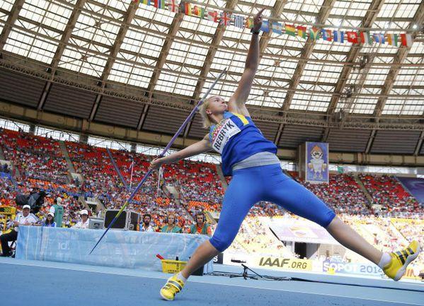 На чемпионате мира-2013 в Москве чемпионка Европы-2012 в метании копья Вера РЕБРИК не прошла квалификацию. Фото Reuters