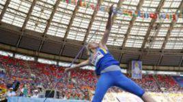 На чемпионате мира-2013 в Москве чемпионка Европы-2012 в метании копья Вера РЕБРИК не прошла квалификацию.
