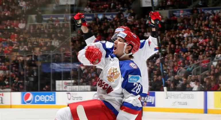 Сегодня. Торонто. Швейцария - Россия - 0:7. Радость Сергея ТОЛЧИНСКОГО. Фото IIHF