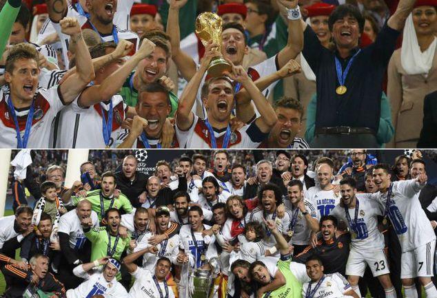"""2014 год. Германия - чемпион мира, """"Реал"""" - победитель Лиги чемпионов и клубного чемпионата мира. Фото REUTERS/AFP"""