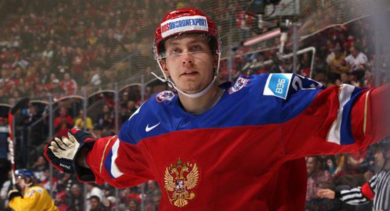 Сегодня. Торонто. Швеция - Россия - 1:4. Лучший игрок матча, автор дубля Александр ШАРОВ. Фото IIHF
