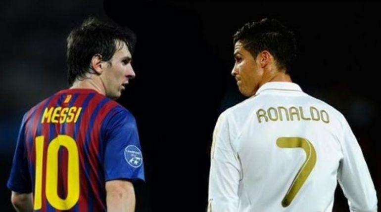 Самые дорогостоящие футболисты планеты - Лионель МЕССИ (слева) и КРИШТИАНУ РОНАЛДУ. Фото AFP