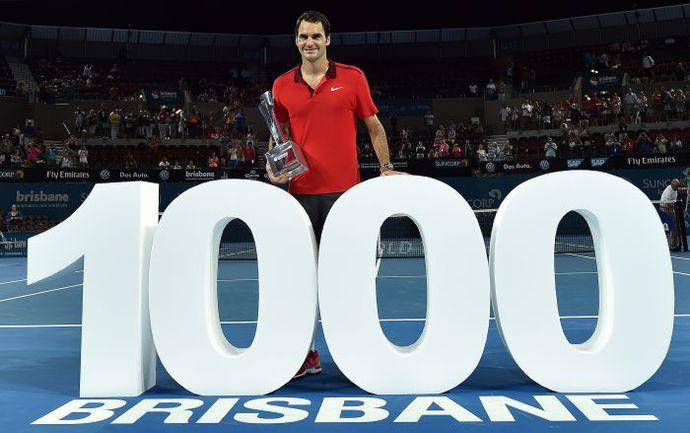 Воскресенье. Брисбен. Финал с Милошем Раоничем стал 1000-м победным матчем Роджера ФЕДЕРЕРА на турнирах ATP. Фото AFP