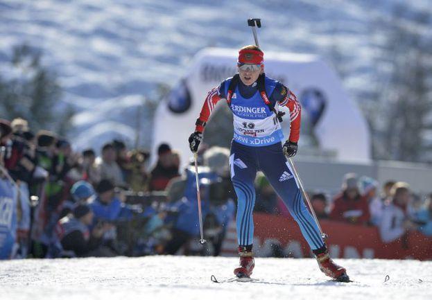 Екатерина ГЛАЗЫРИНА - единственная спортсменка, чье место в составе четверки на эстафету не подвергалось сомнению тренерами. Фото AFP