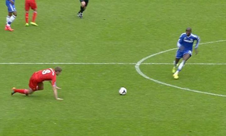 """27 апреля 2014 года. Ливерпуль. """"Ливерпуль"""" – """"Челси"""" – 0:2. Эту ошибку Стивена ДЖЕРАРРДА будут помнить вечно."""